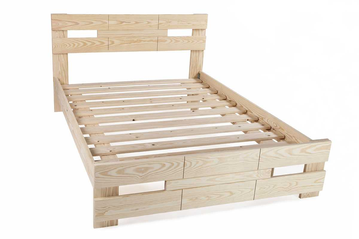 בסיס מיטה עשוי עץ מלא