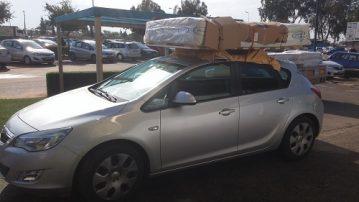 מיטה על גג רכב