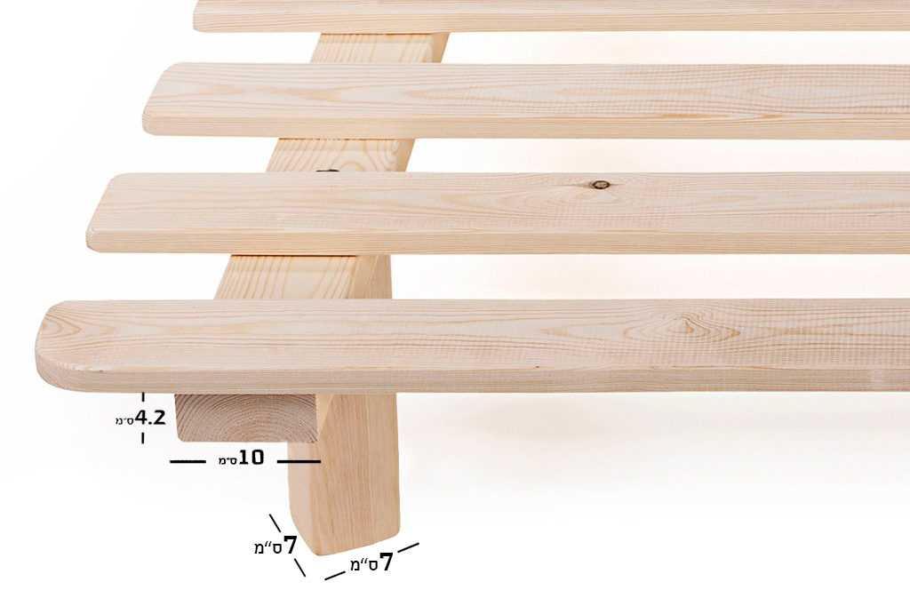 מידות בסיס מיטה מעץ מלא