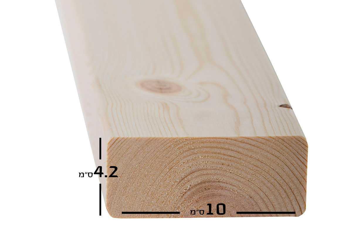 """קרש של בסיס מיטה עם מידות 10 ס""""מ רוחב על 4.2 ס""""מ גובה"""