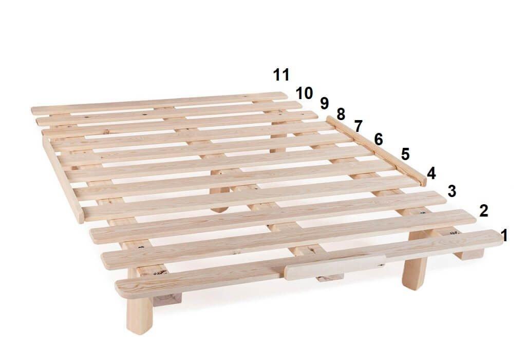 למפעלי טום 11 לוחות עץ בבסיס המיטה